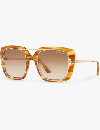 ed5217e84eb6f Tom Ford. FT0619 Unisex Marissa Square Sunglasses. from John Lewis