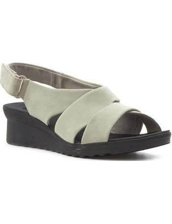 2aca4a27f Clarks. Womens Taupe Low Wedge Comfort Sandal