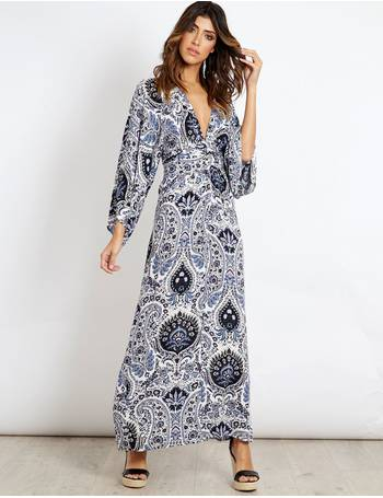 cb88e2f7505 JESSIKA - Printed Kimono Maxi Dress from Blue Vanilla