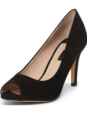 9a6b13f1f4 Dorothy Perkins. Womens Black 'Clover' Peep Toe Court Shoes- Black. from Dorothy  Perkins. £16.00 £20.00. Womens Wide Fit ...