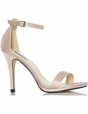 e833f5cb613 Nude Satin Barely There Heels from Quiz Clothing