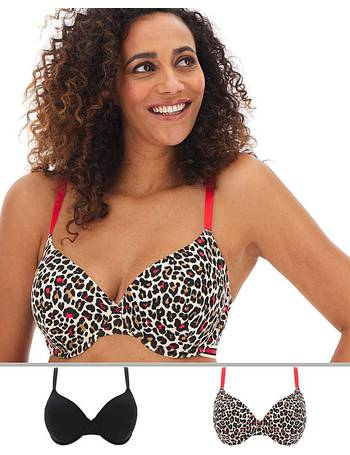 Womens 2 Pack Sarah Full Cup Non Wired Bras JD Williams