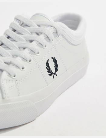 06890fd7a7b4 Fred Perry. Kendrick Leather Trainer With Rib Detail