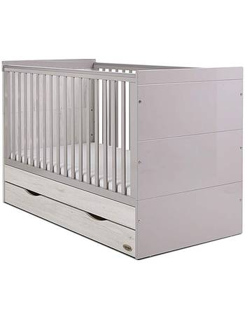 Obaby Whitby Cot Bed and Dual Core Moisture Management Mattress White