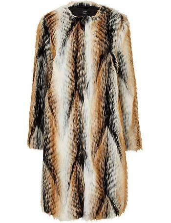313f298ca Faux Fur Edge To Edge Coat