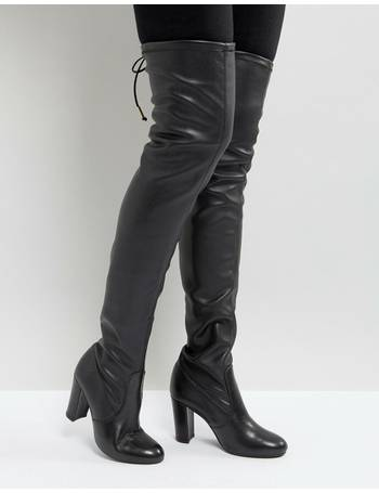 bada5d45937 Sybil Leather Over Knee Boots from ASOS