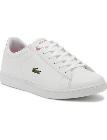 White Trainers Lacoste Carnaby EVO 418 3 Junior Pink