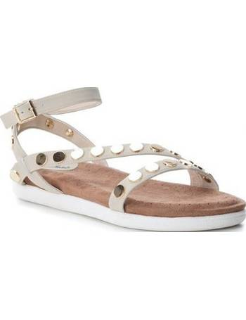 587ee56c7ae2bc Studded buckle sandals 3353103-HIE White Woman Spring Summer Co from Spartoo