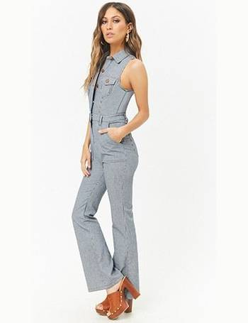 17bebbbfb24 Shop Women s Forever 21 Stripe Jumpsuits up to 70% Off