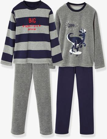 Pack of 2 Pairs of Matching Dual Fabric Pyjamas for Boys from Vertbaudet b59ff686fe0a9