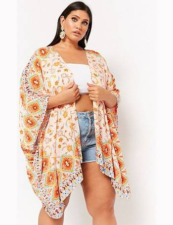 e7609d6090f Plus Size Floral Ornate Swim Cover-Up Kimono from Forever 21
