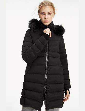 Next UK Womens Padded Coats | longline, black, quilted