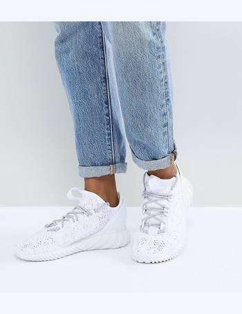 sale retailer e76ff 9ea85 Adidas Originals. Tubular Doom Sock Trainers In White. from ASOS
