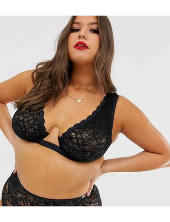 63bf04f92ab59 Figleaves. Curve The Luxe lace bra with exposed wire in black