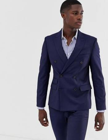 Moss Bros Mens Charcoal Grey Suit Jacket 2 Button Birdseye Tailored Fit Blazer