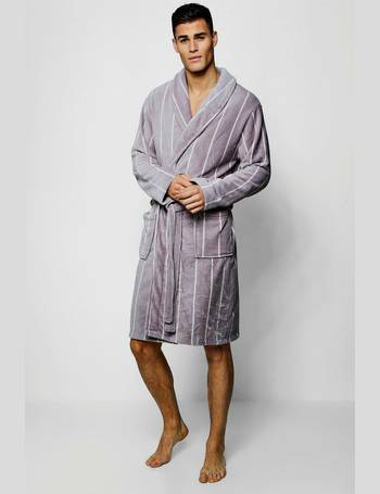fcd469e1df6f Vertical Stripe Dressing Gown from boohooMan