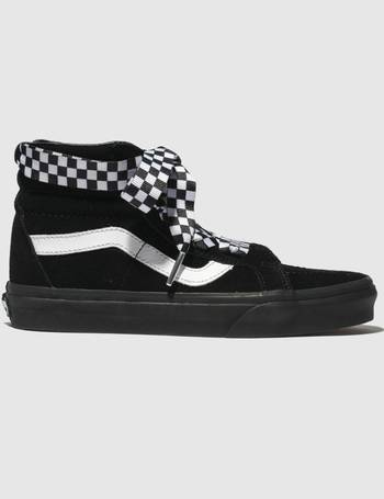 7f9ba39360 Black   White Sk8-hi Alt Lace Checkwrap Trainers from Schuh