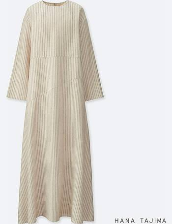 d3c31514e90 WOMEN HANA TAJIMA STRIPED FLARE LONG SLEEVE LONG DRESS from Uniqlo