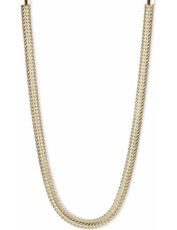 6481cd9d5cdf7 Gold Coloured Flat Chain 21inch Necklace