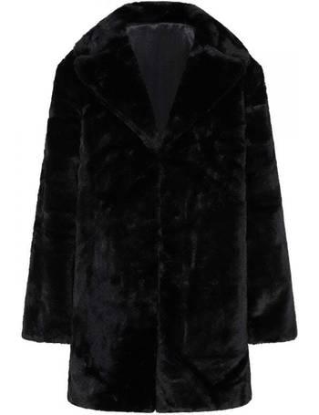 Film Beckton Pink Faux Fur Coat