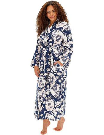 Womens Pretty Secrets Printed Viscose Gown Simply Be