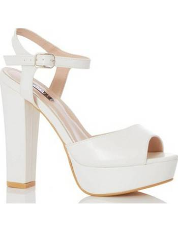 4590571efd Womens Quiz White Block Heel Sandals- White from Dorothy Perkins