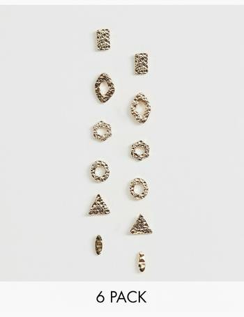 73464c53219f8 multipack textured stud earrings