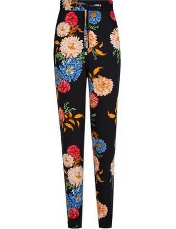 bde8fc81bb320 Womens Tall Navy Floral Print Joggers- Black from Dorothy Perkins