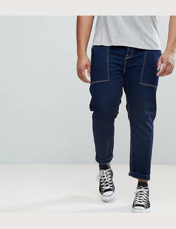 ce4fa5a947e ASOS PLUS Tapered Jeans In Recycled Cotton from ASOS