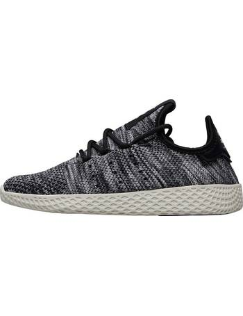 948bde45a9432 x Pharrell Williams Mens Tennis HU Primeknit Oreo Trainers Core White Core  Black Footwear