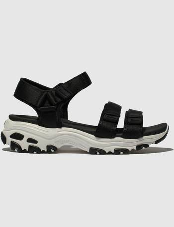 56703a8f364 Skechers. Black   White Dlites Fresh Catch Sandals