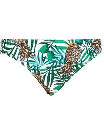 30c1837a8a555 Womens Dp Beach Pineapple Print Low Rise Bikini Bottoms- White from Dorothy  Perkins