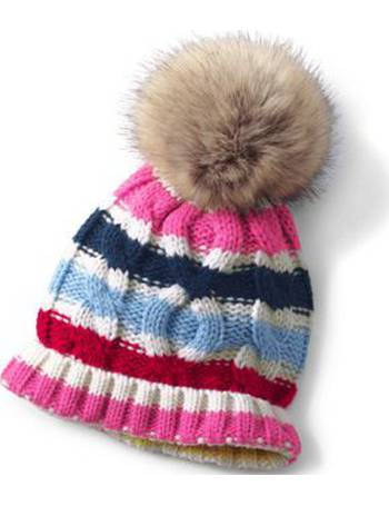 6f375f42ca4 Lands  End Girls  Knitted Pom-Pom Hat from Land s End