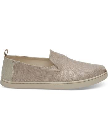 4c85bfaff90 Rose Gold Metallic Woven Women s Deconstructed Alpargatas Shoes from Toms Uk