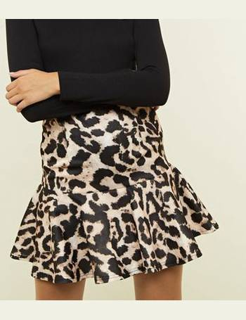 6b3aa4db0 Brown Leopard Print Frill Skirt New Look from New Look. Quick View · Cameo  Rose