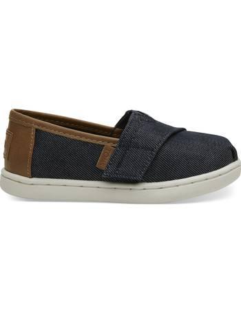 db8a9e7f9e6d Navy Heavy Denim Tiny TOMS Classics Slip-On Shoes from Toms Uk