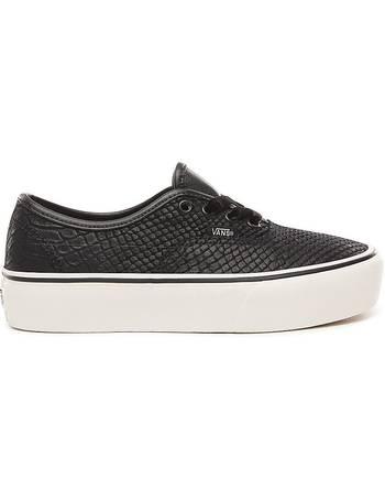 Leather Authentic Platform 2.0 Shoes ((leather) Snake black) Men Black from ead629364
