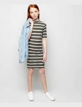 92a88b4464a5 Girls Pink Multi Stripe Bodycon Dress New Look from New Look