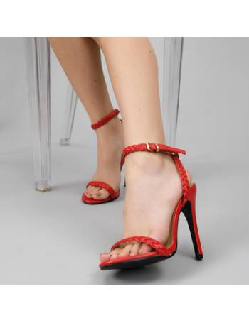 a5af0c72b1 Red Braided High Heels with Ankle Strap from KOI Footwear