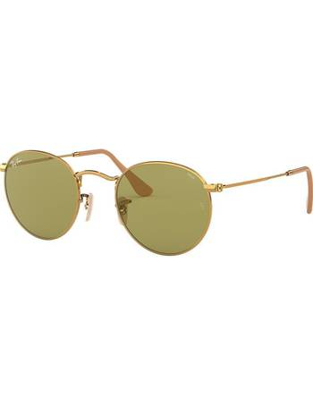 86e25cf255a1 Rb3447 50 Round Metal Gold Square Sunglasses from Sunglass Hut Uk