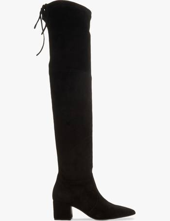 af6b3b1affc Shadie Suede Block Heel Over The Knee Boots from John Lewis