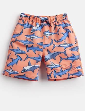 Green Skeleton Shark Joules Boys 210424 Swim Shorts