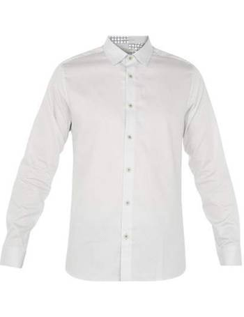 7694f7c8a27ef8 Men s Ted Baker Boomtwn Geo Print Cotton Shirt from House Of Fraser