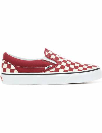 6044ae6873b Vans. Checkerboard Slip-on Shoes ((checkerboard) Rumba Red true White) Men  Red