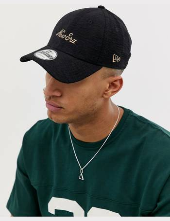 7db518c0b13c7 new era. 9Forty logo adjustable cap in black. from ASOS
