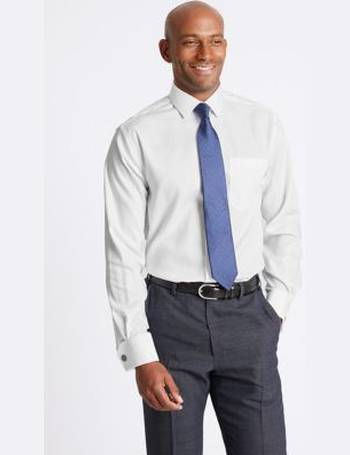 79e110cf92a5 Pure Cotton Non-Iron Twill Regular Fit Shirt from Marks & Spencer