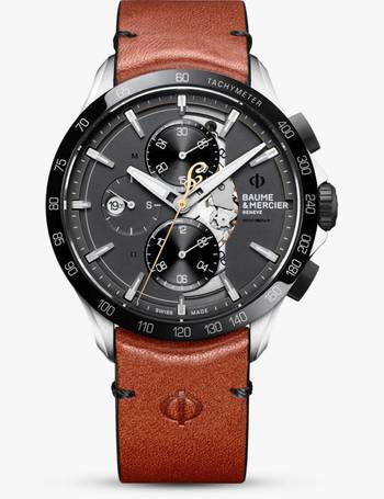 bccb2cad76ec1 M0A10402 Men s Clifton Automatic Chronograph Day Date Leather Strap Watch  from John Lewis