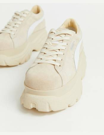 48879a0a44a Puma. X Buffalo suede cream platform trainers. from ASOS