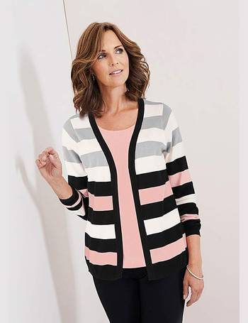 Womens Stripe Jumper With Contrast Sleeve JD Williams