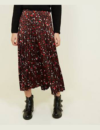 c7e5ae850 Brown Leopard Print Pleaded Midi Skirt New Look from New Look